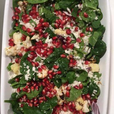 Gránátalmás karfiolsaláta recept