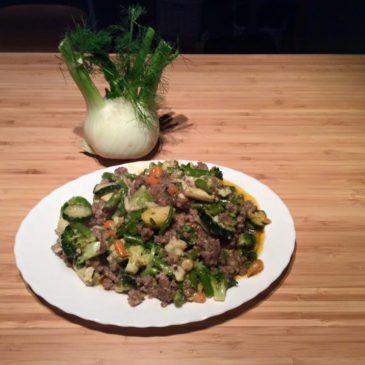Édesköményes-zöldbabos wok-zöldséges bárány