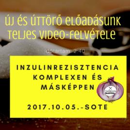 Video – Inzulinrezisztencia előadás felvétel 2017.10.05.