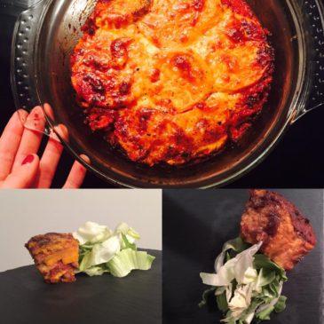Édesburgonya-lasagne