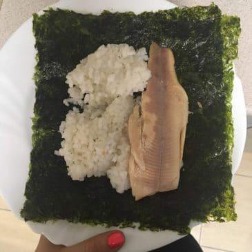 Hűtött rizs füstölt pisztránggal