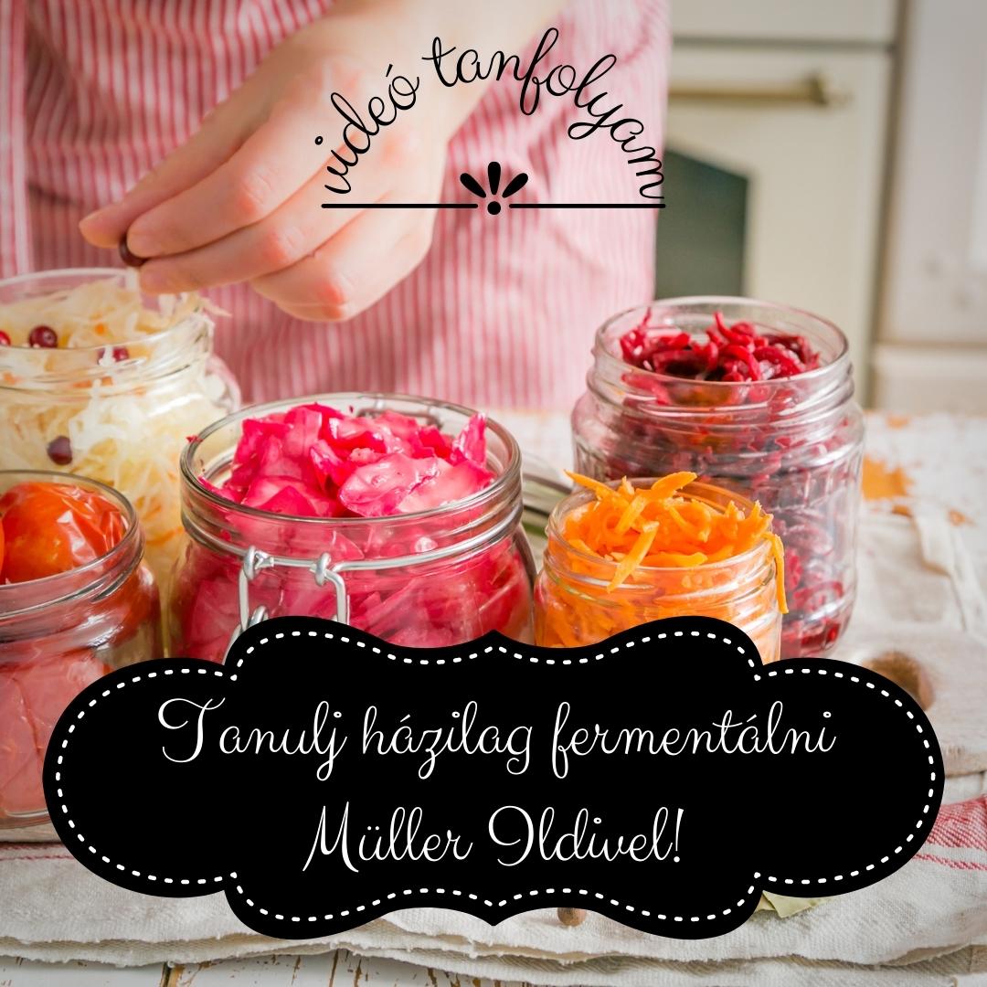 Tanulj házilag fermentálni Müller Ildivel! – videó tanfolyam