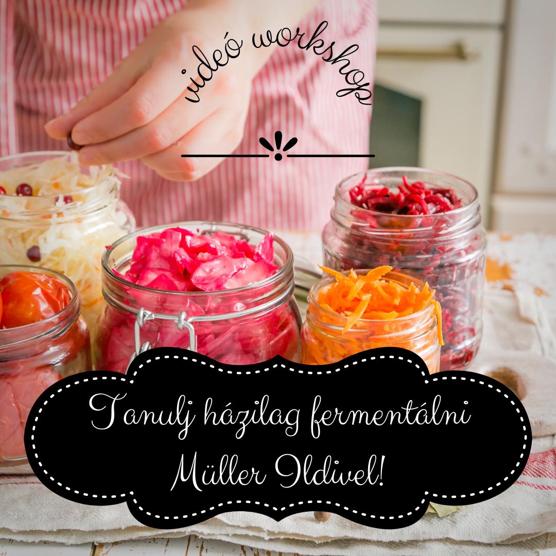 Tanulj házilag fermentálni Müller Ildivel! – videó worksop