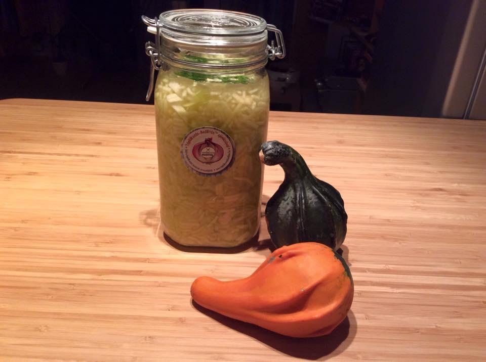 Házi készítésű fermentált tök receptje