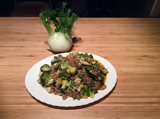 Édesköményes-zöldbabos wok-zöldséges bárány recept