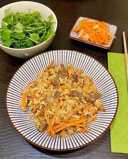 Marhahúsos pirított basmati rizs